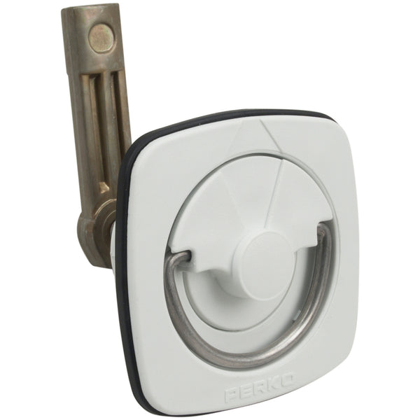 White Flush Latch
