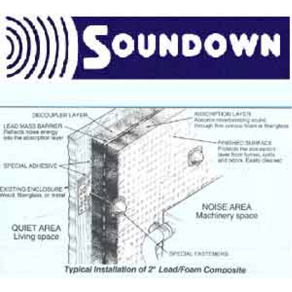 "Sounddown 54""x32""x1"" Metalic Faced Sound Barrier"