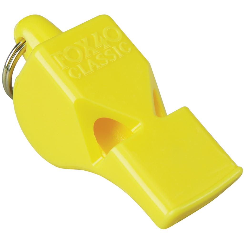 Yellow 40 Fox Whistle with Rigging Shoppe Logo