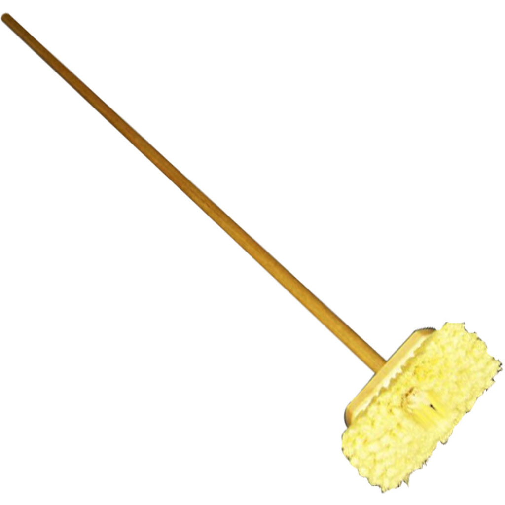 Scrubber & Handle with Soft Yellow Bristles