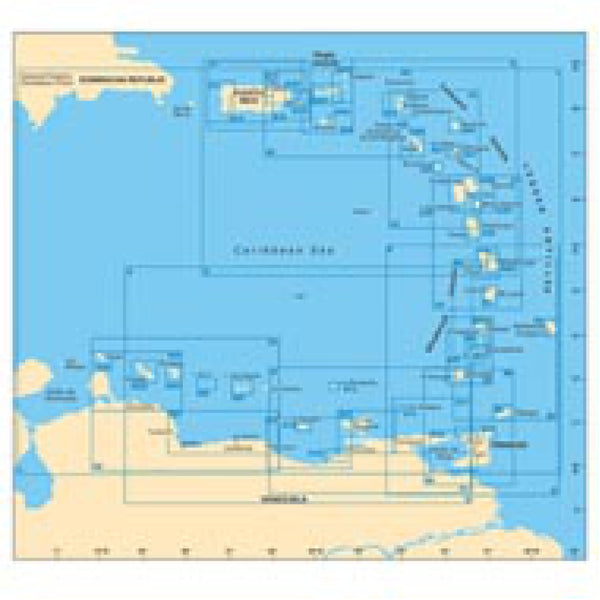 Imray North East Coast St. Croix Caribbean Chart