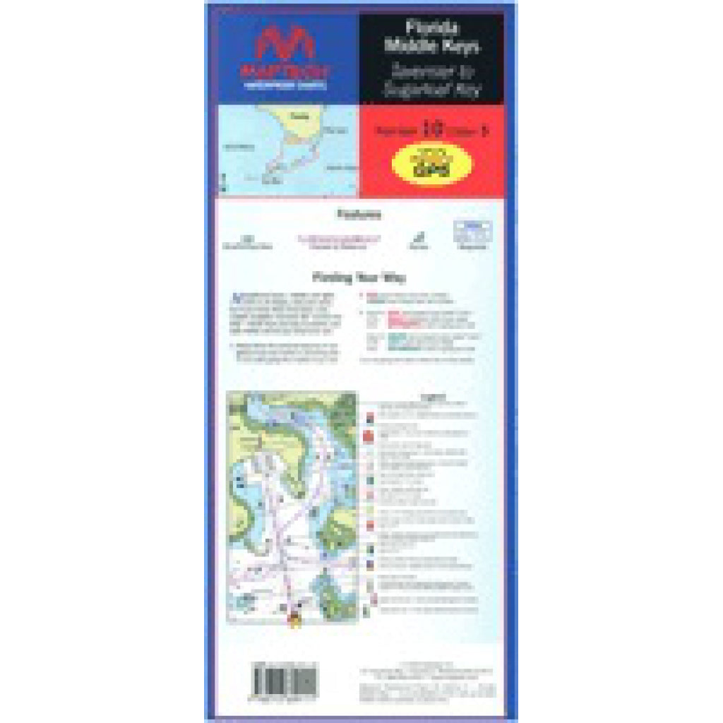 Maptech Middle Keys Waterproof Chart