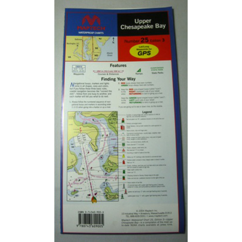 Maptech Upper Chesapeake Waterproof Chart