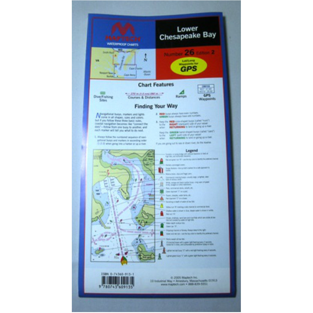 Maptech Lower Chesapeake Waterproof Chart