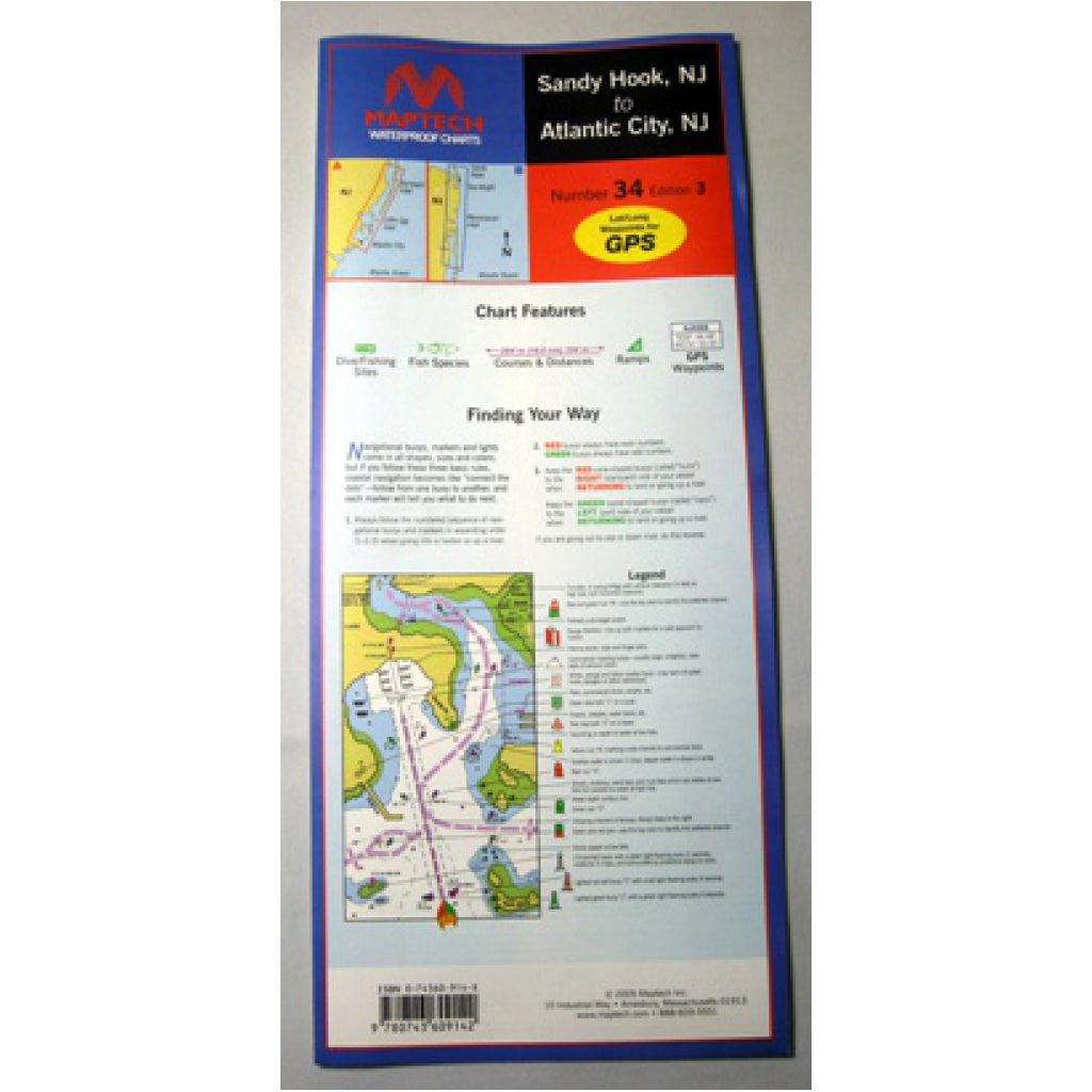 Maptech Atlantic City Waterproof Chart