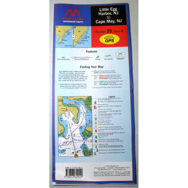 Maptech Cape May Waterproof Chart