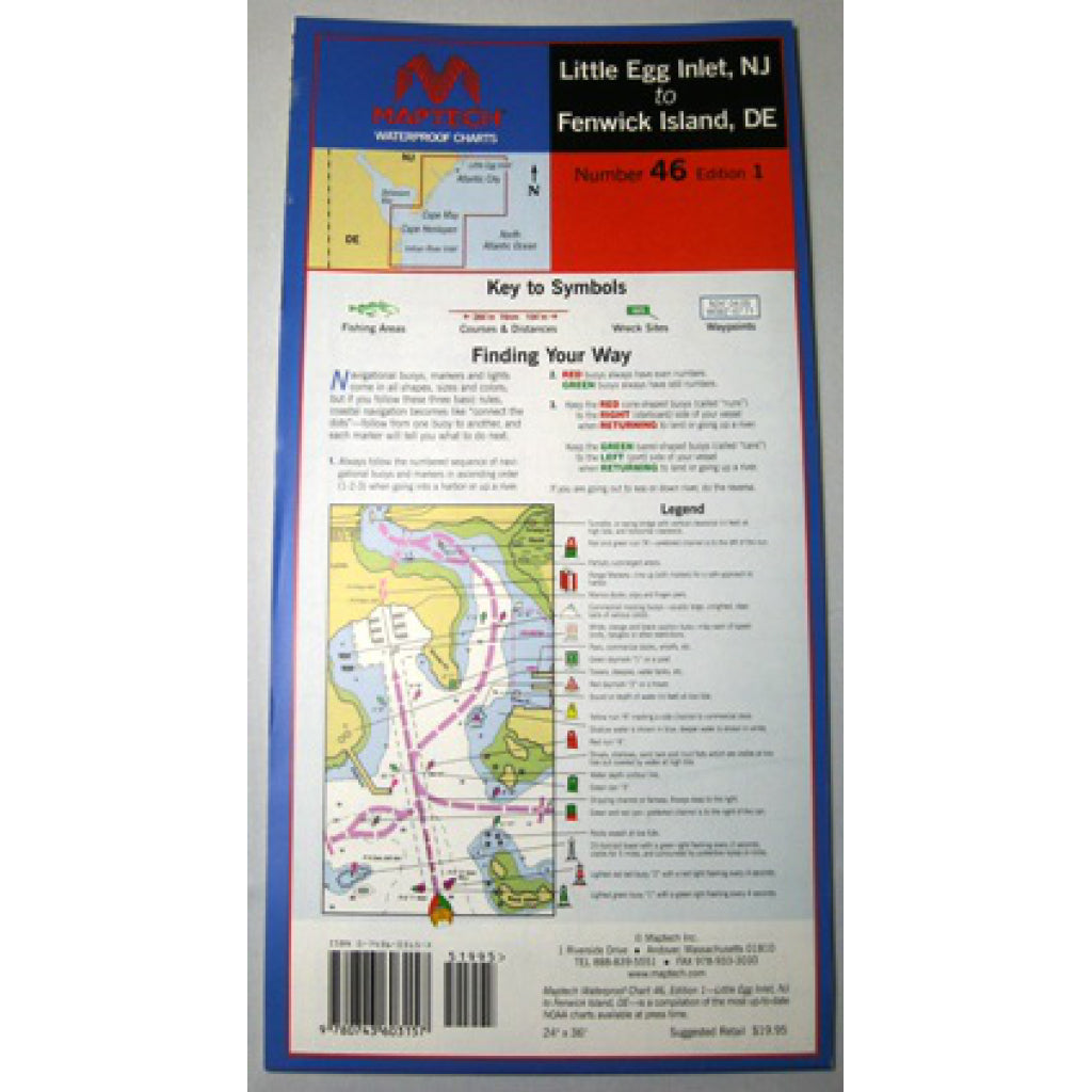 Maptech Little Egg And Delaware Waterproof Chart