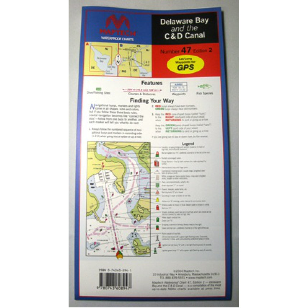 Maptech Delaware C&D Waterproof Chart