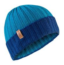 Gill Blue Wide Rib Knit Beanie