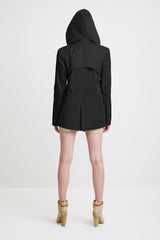 TAILORED JACKET - black raincoat for women