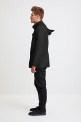 TAILORED JACKET - black raincoat for men