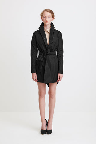 TAILORED TRENCH COAT - in black for women