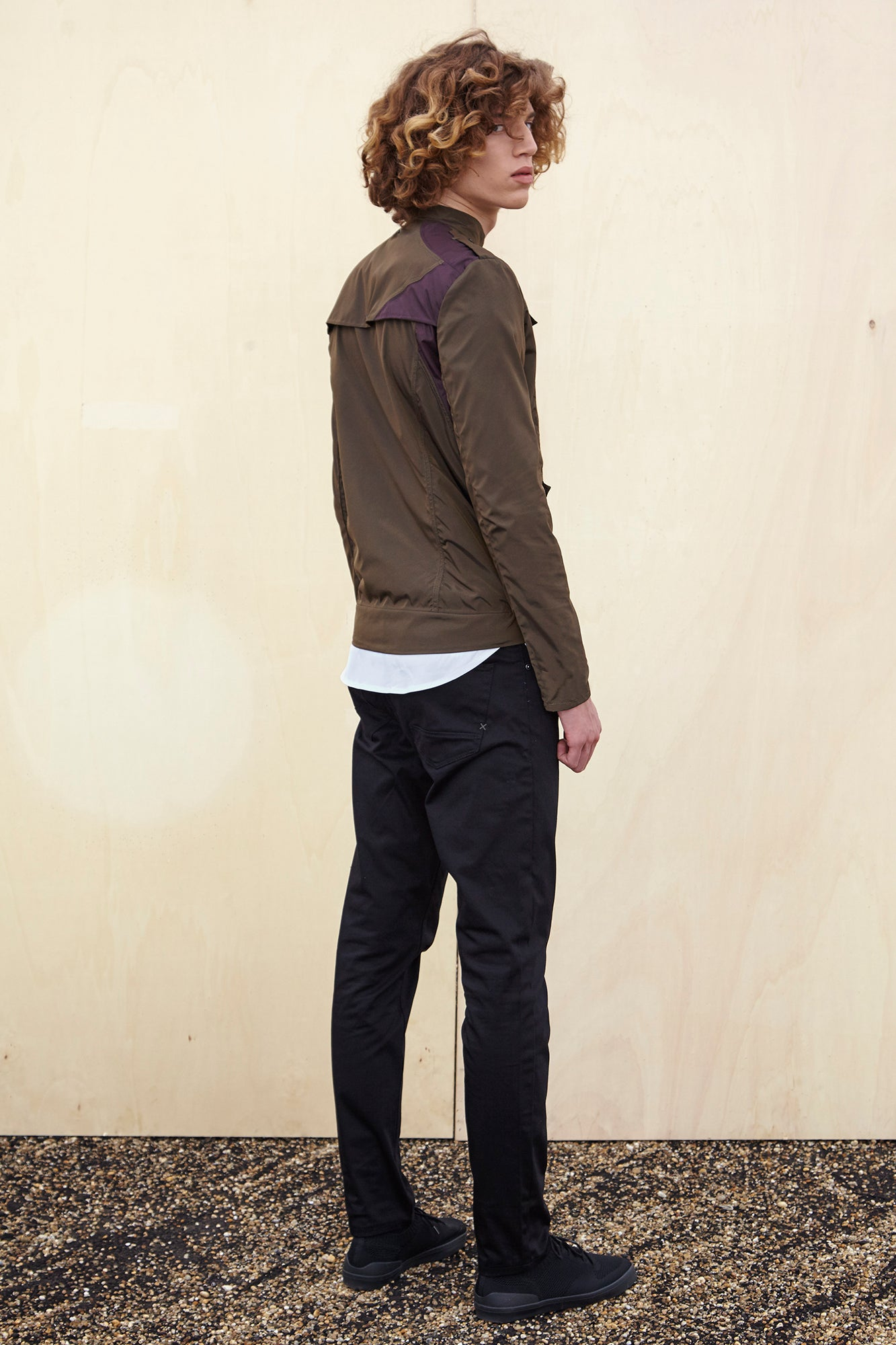 BOMBER JACKET - khaki raincoat for men