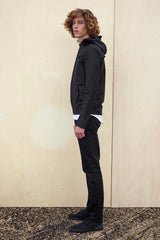 BOMBER JACKET - black raincoat for men