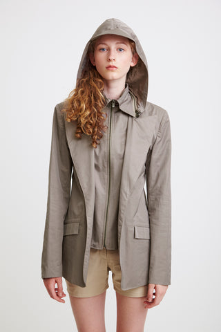 TAILORED JACKET - grey raincoat for women