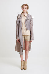 ASYMMETRICAL WINDBREAKER - in grey for women