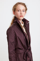 TAILORED TRENCH COAT - in claret for women