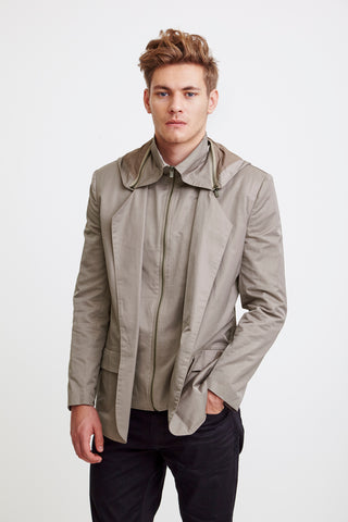 TAILORED JACKET - grey raincoat for men