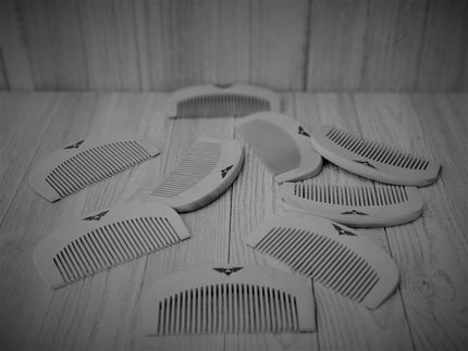 Pear wood beard comb