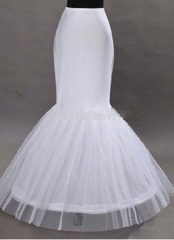 Mermaid style Petticoat 1 Hoop Bone Elastic Wedding Dress Slip