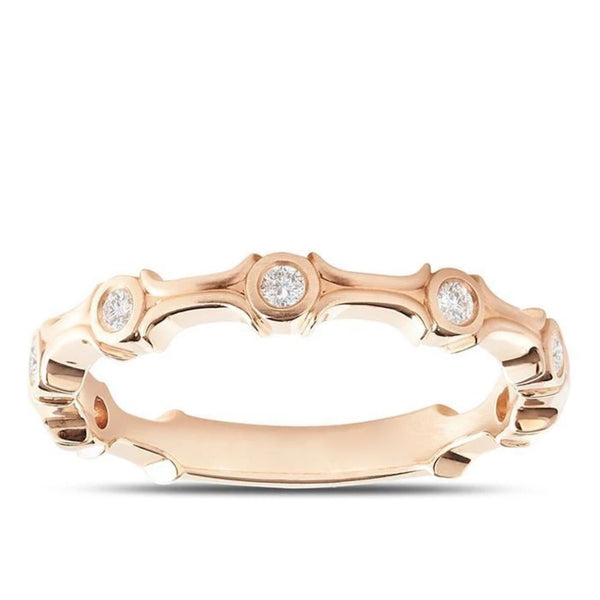 Perrywinkle's  1785 Classics Diamond Bezel Round Ring In 14K Rose Gold