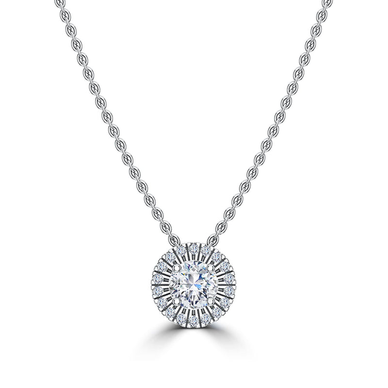 Perrywinkle's Easton Diamond Halo Pendant In 14K White Gold