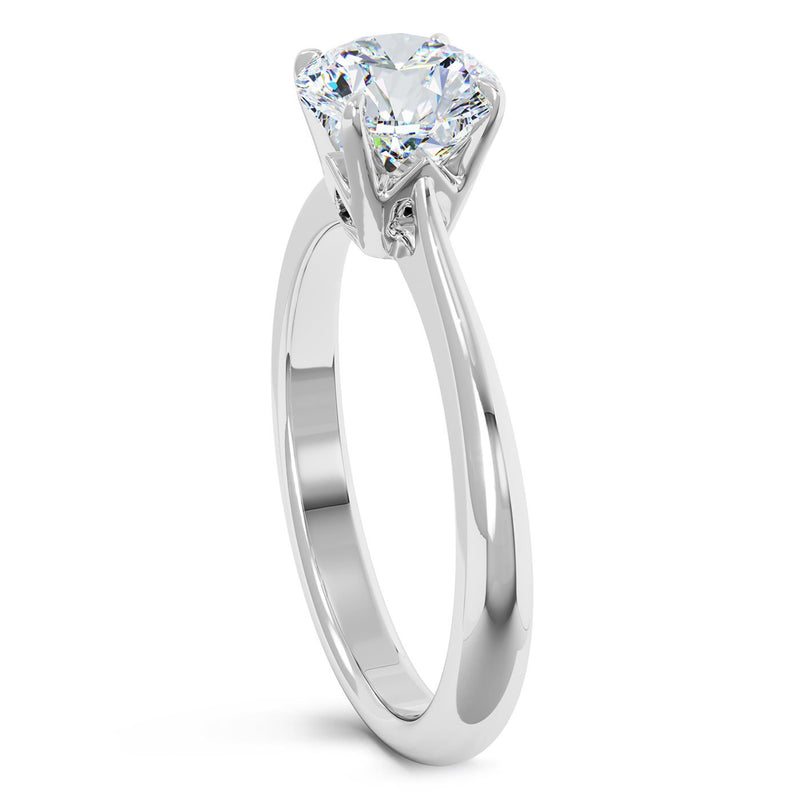 Perrywinkle's Solitaire Juliana Engagement Ring In Platinum