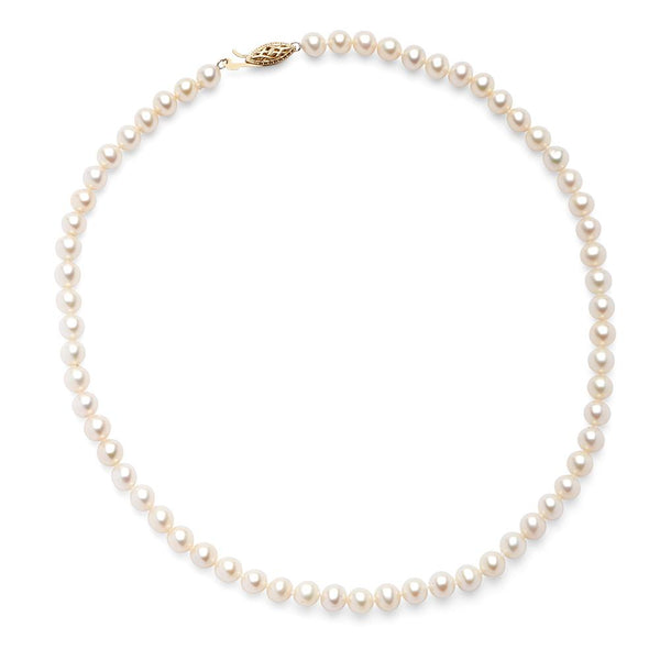 Perrywinkle's  1785 Classics Diamond 6.0 - 6.5 MM Necklace In 14K Yellow Gold