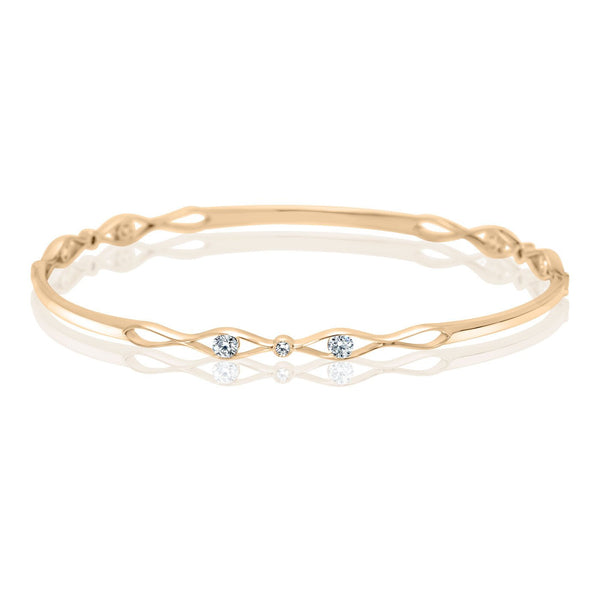 Perrywinkle's Easton Diamond Entwined Bangle In 14K Yellow Gold