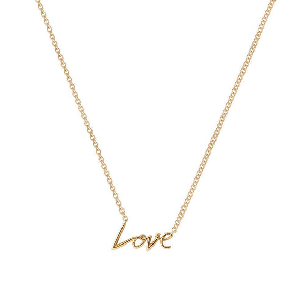 Perrywinkle's Expressions Diamond Love Necklace In 14K Yellow Gold