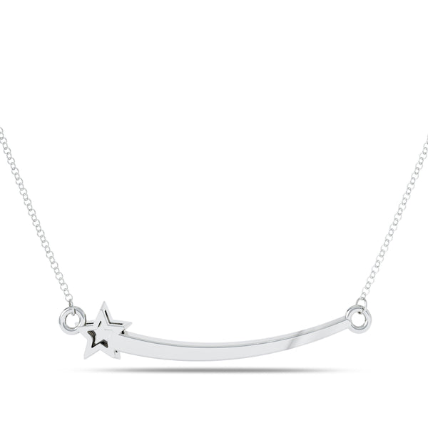 Perrywinkle's Etoile Diamond Shooting Star Necklace In Sterling Silver
