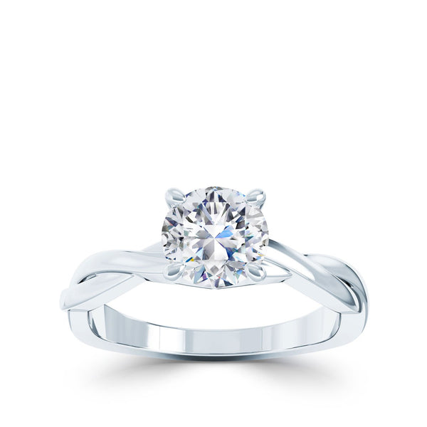 Perrywinkle's Vintage Diamond Engagement Ring In 18K White Gold