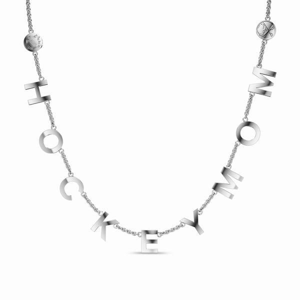Perrywinkless NHL Buffalo Sabres Hockey Mom Letter Necklace in Sterling Silver