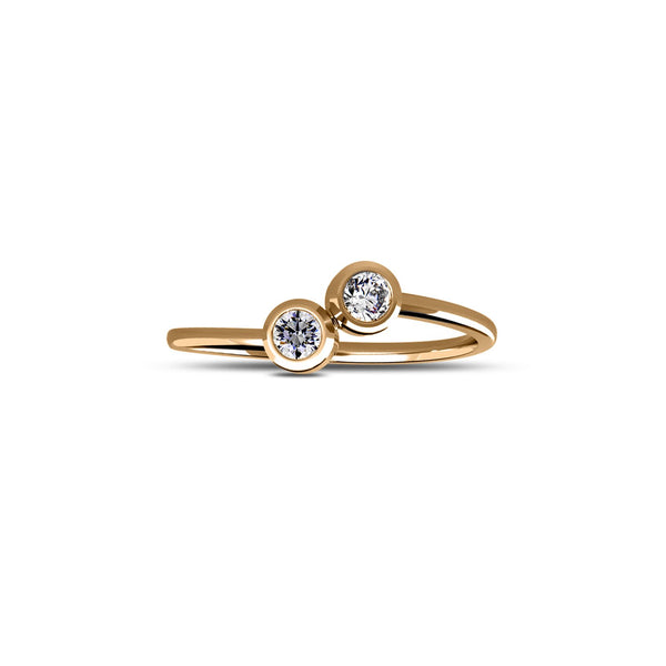 Perrywinkle's Dew Drop Diamond Ring In 14K Yellow Gold