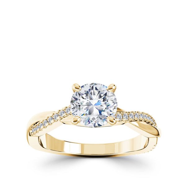 Perrywinkle's Vintage Intertwined Engagement Ring In 14k Gold