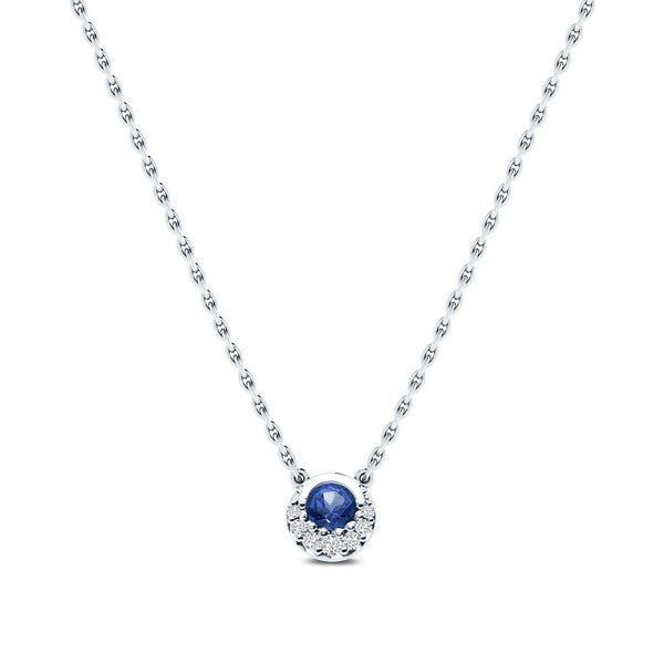 Perrywinkle's Easton Classics Diamond Crescent Halo Necklace In 14K White Gold