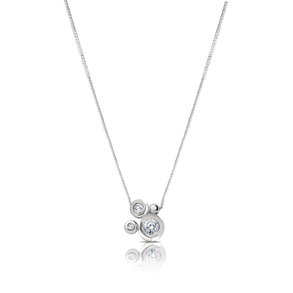 Perrywinkle's Easton Diamond Bezel Cluster Necklace In 14K White Gold