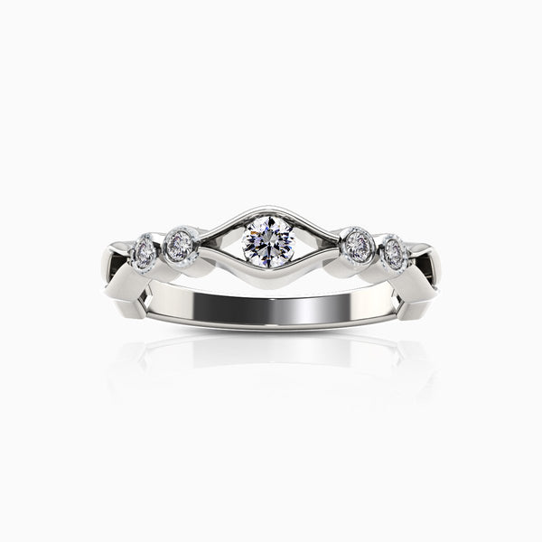 Perrywinkle's Easton Diamond Open Wave Ring In 14K White Gold