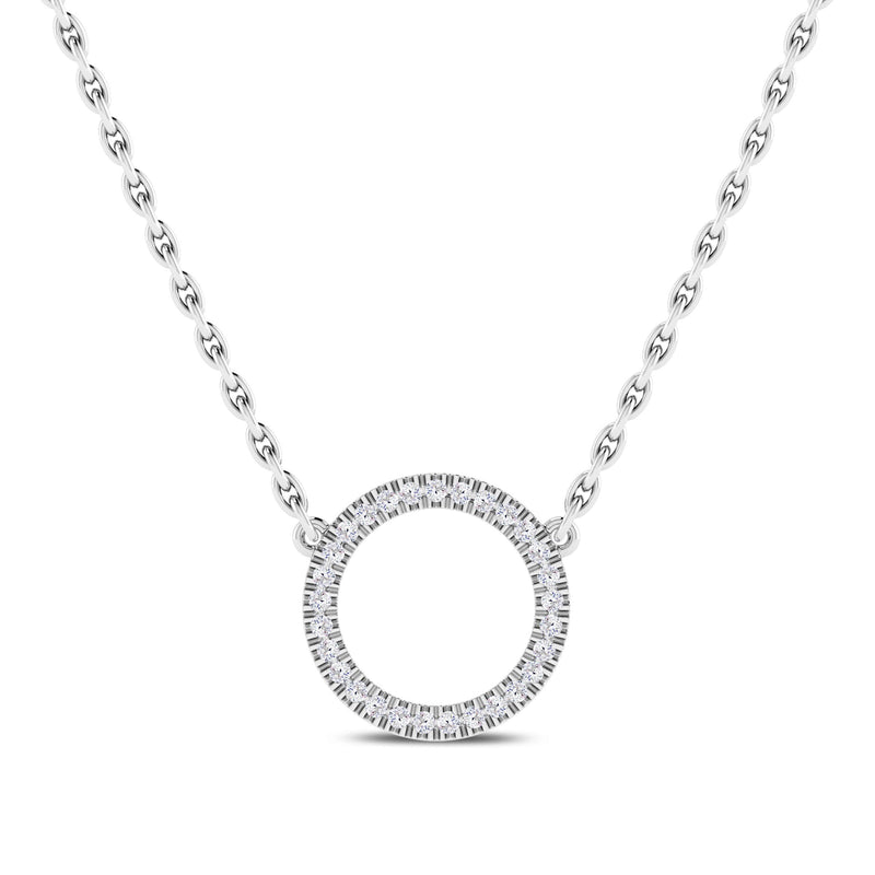 Perrywinkle's Easton Diamond Circle Necklace In 14K White Gold