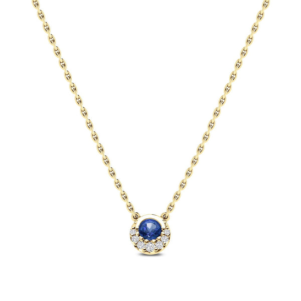 Perrywinkle's Easton Classics Diamond Crescent Halo Necklace In 14K Yellow Gold