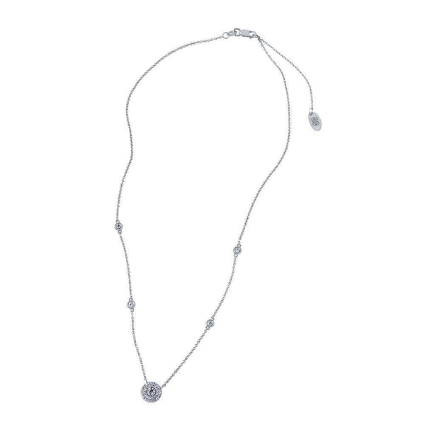 Perrywinkle's Dew Drop Diamond 5-Station Necklace In 14K White Gold