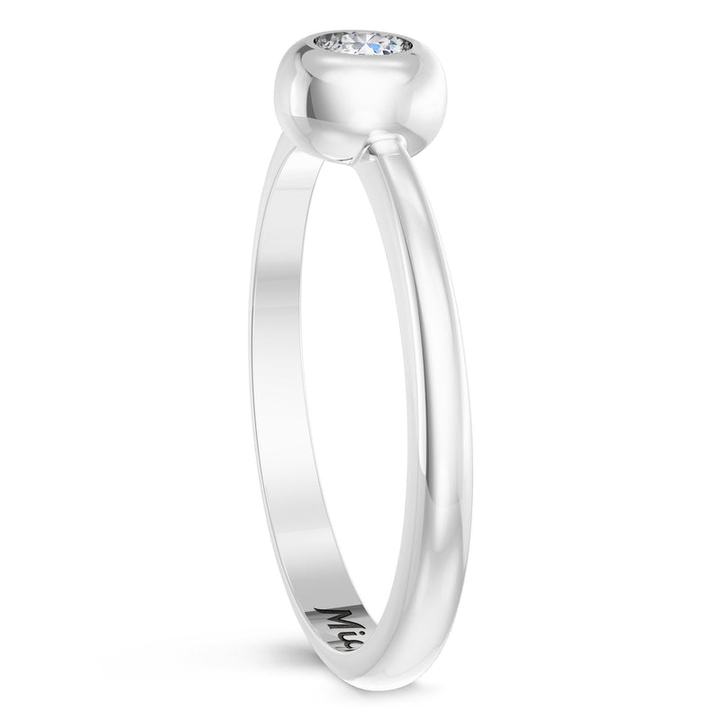 Miami Marlins Diamond Engraved Ring In Sterling Silver