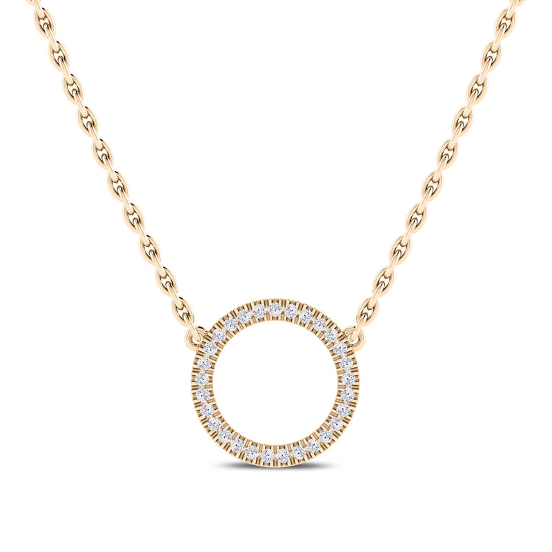 Perrywinkle's Easton Diamond Circle Necklace In 14K Yellow Gold