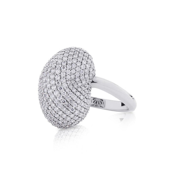Perrywinkle's Easton Diamond Pave Ring In 14K White Gold