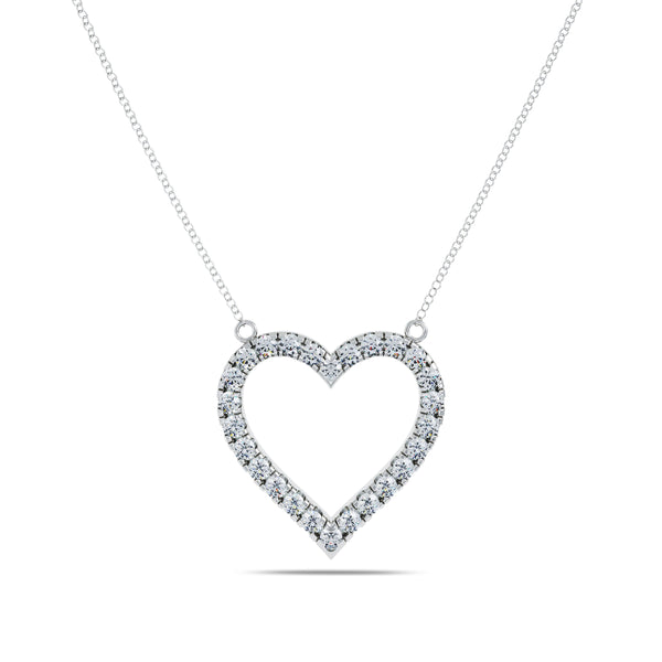 Perrywinkle's Pure Love Diamond Heart Pendant In 14K White Gold