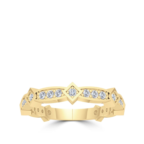 Diamond Stackable Tiara Ring in 14K Gold
