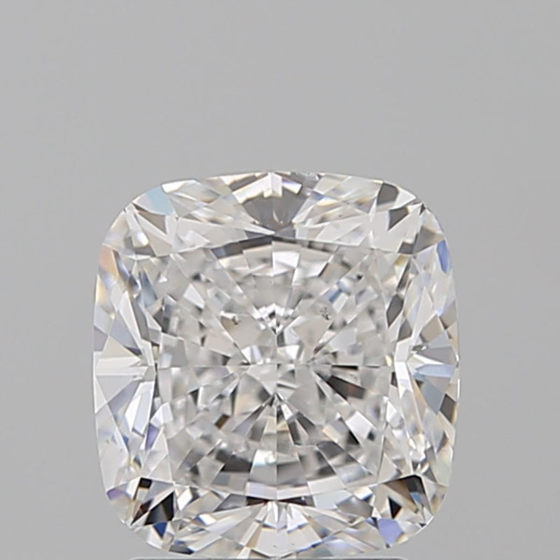 1.72 Carat H-SI1 Perrywinkle Cushion Diamond