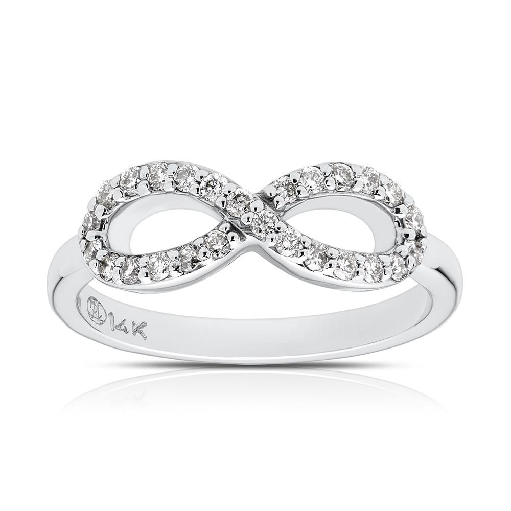 gold white ctw infinity ring jewelers mesa