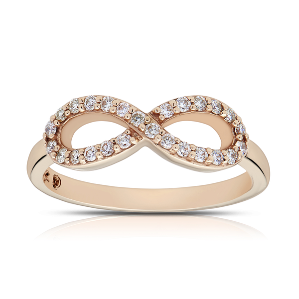 Diamond Infinity Ring in 14K Rose Gold
