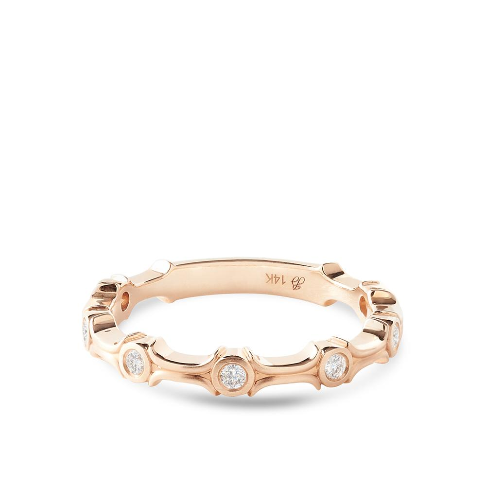 Diamond Tribute Stackable Ring in 14K Yellow Gold